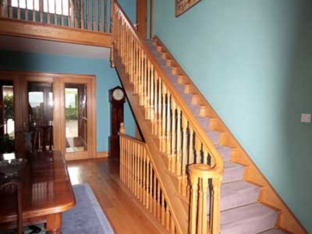 Stairs with Curved Handrail
