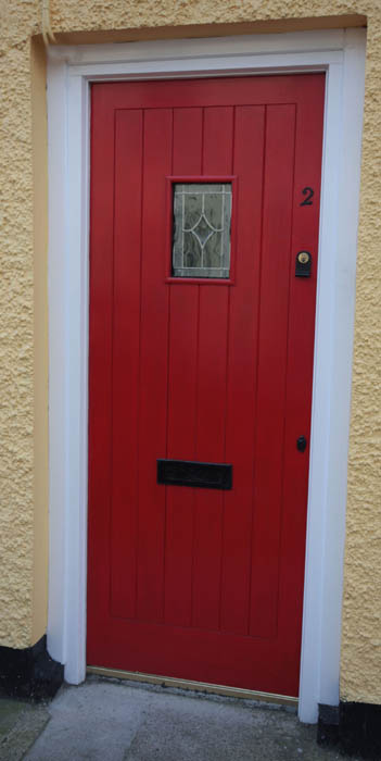 External Sheeted Door with Square Vision Panel