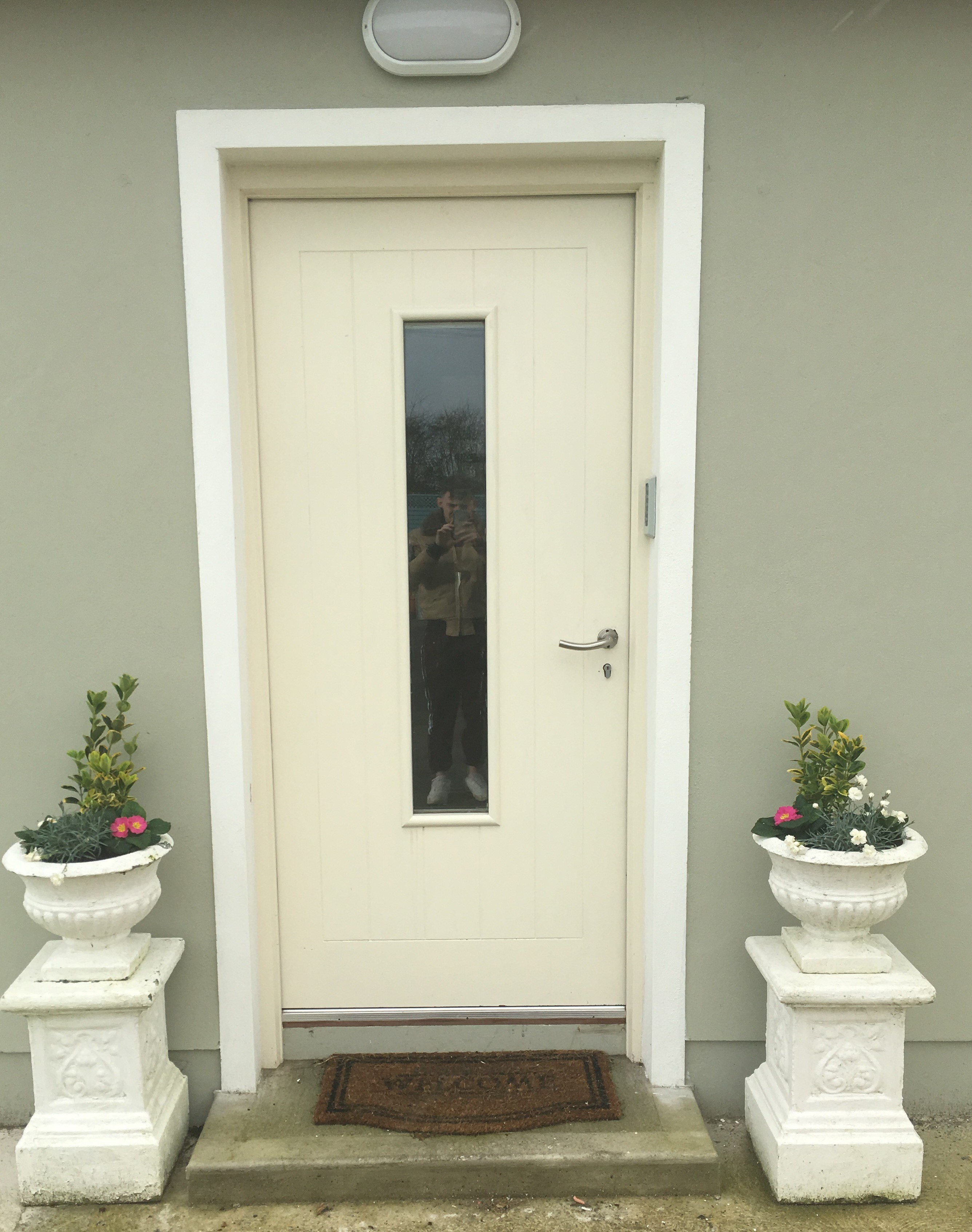 External Sheeted Door with Vision Panel