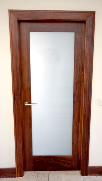 Internal Door with Frosted Glazing