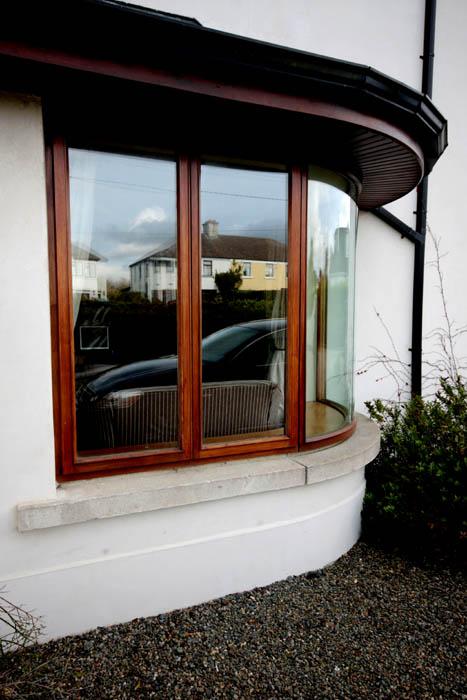Sapele Curved Window