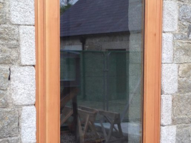 External Douglas Fir Door with Vision Panel