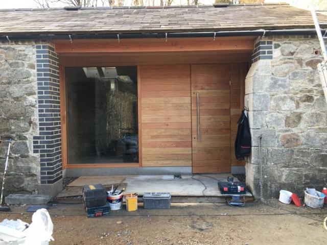 66mm Douglas Fir Sheeted Doors,window & Panelling.