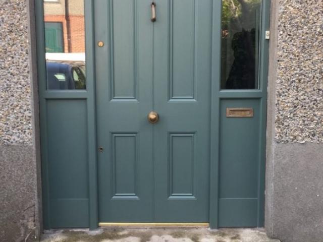 Front Door with Side lights
