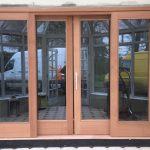 Sapele Sliding door & Side lights