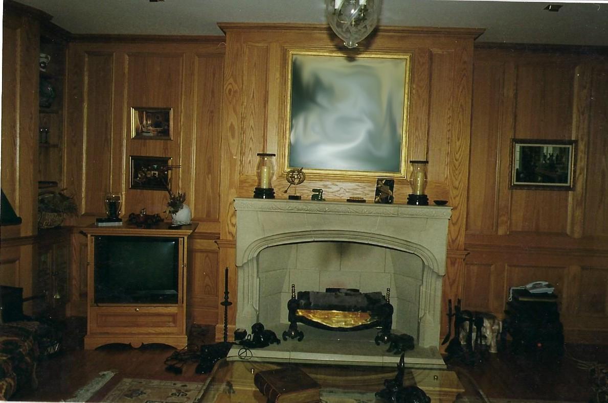 Wall Panelling around a Fireplace