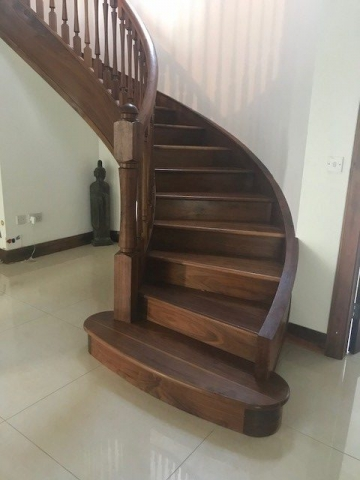 Walnut Curved Stairs