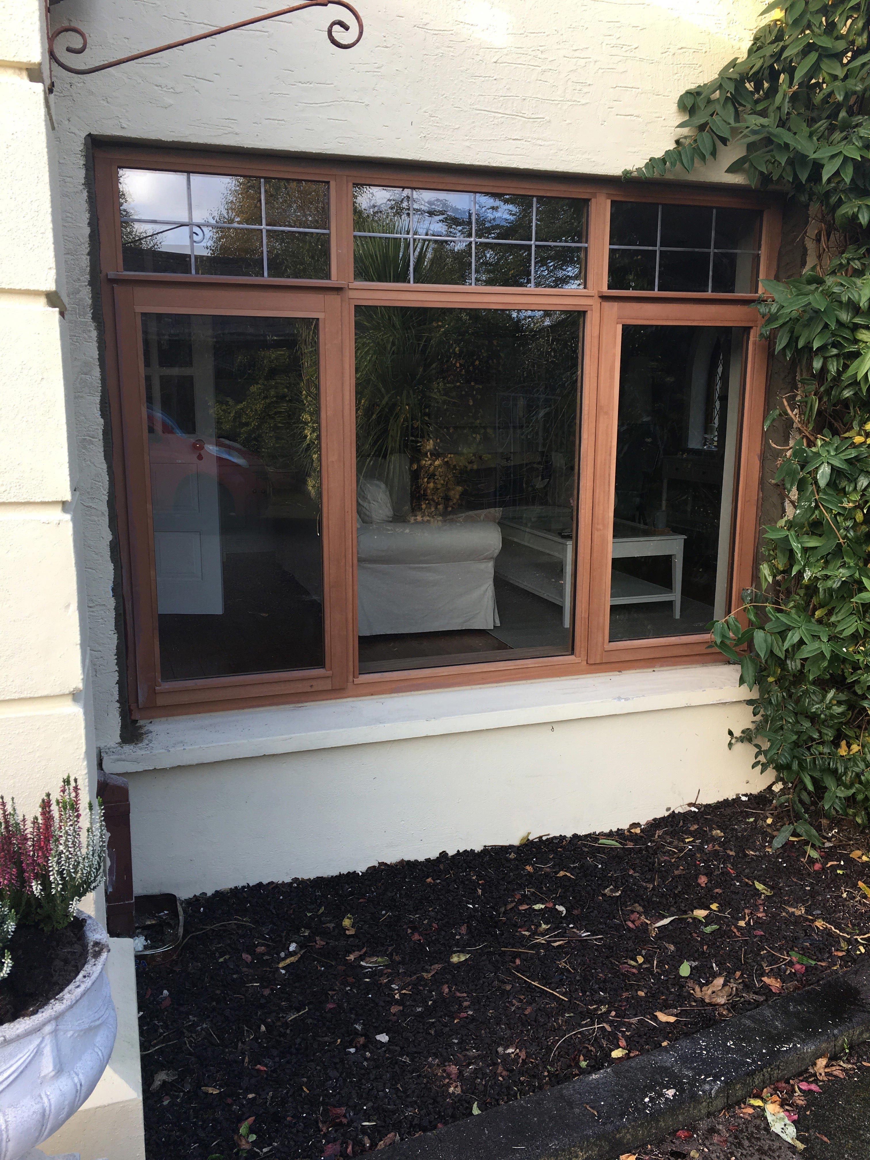 Sapele Stormproof Window